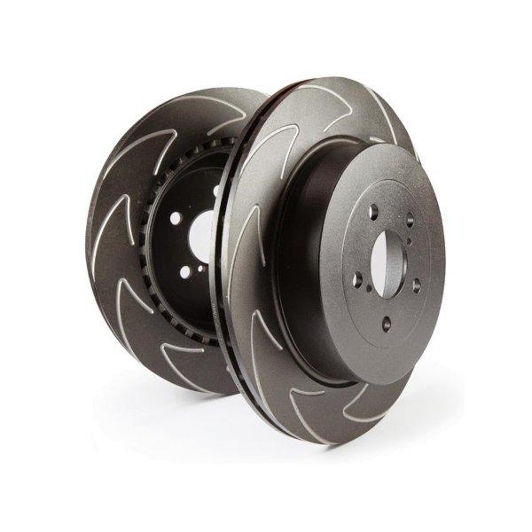 EBC Bremsscheiben Satz High-Carbon Blade Disc Black (BSD) Hinterachse BSD1284 mit ABE