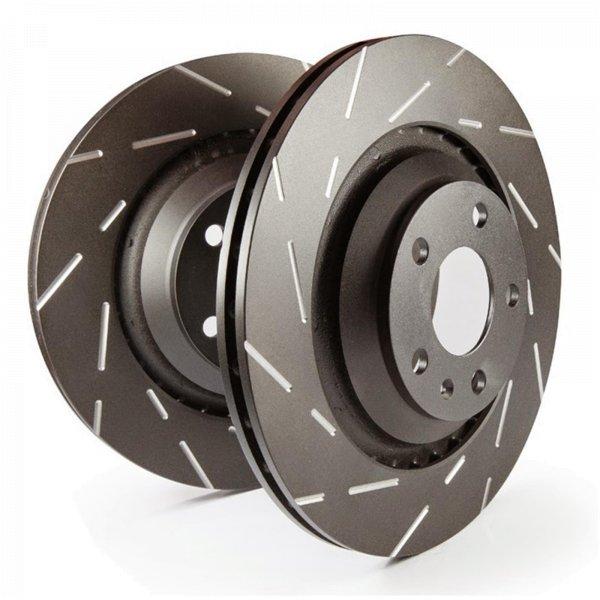 EBC Bremsscheiben Satz Black Dash Disc (USR) Hinterachse USR7450 mit ABE