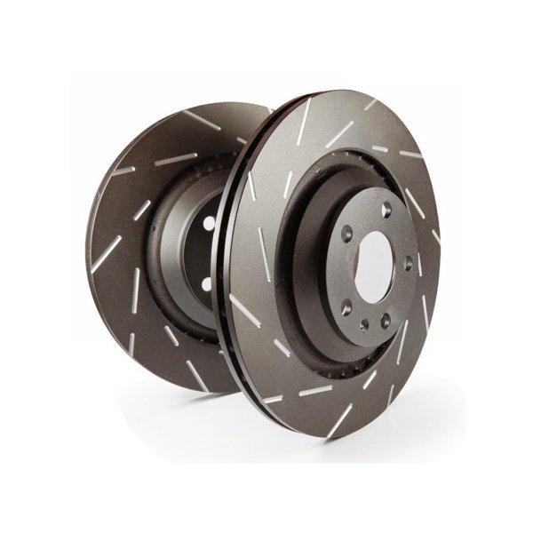 EBC Bremsscheiben Satz Black Dash Disc (USR) Hinterachse USR7409 mit ABE